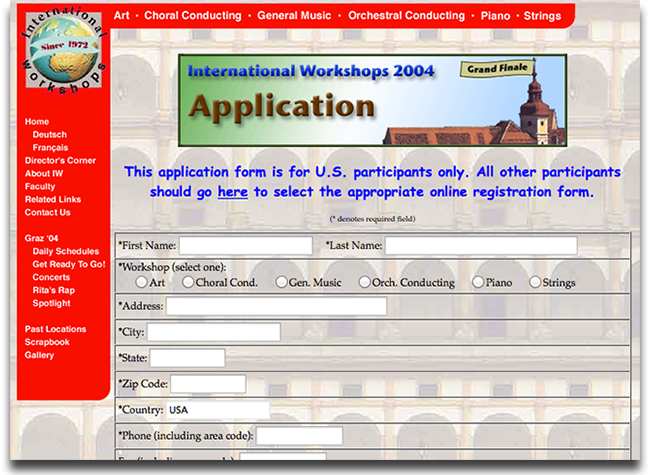 IW application form